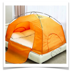 tent on bed のコピー