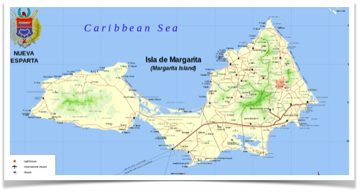 La isla de Margarita-map